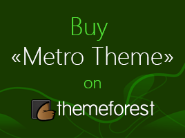 Buy Metro Theme on themeforest.com