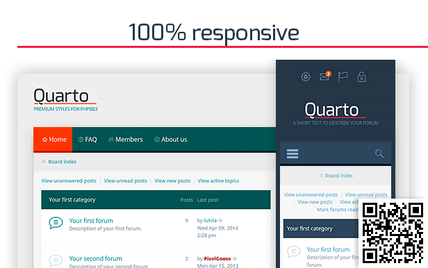 Quarto —phpBB3 Responsive & Retina Ready Theme - 1