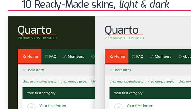 Quarto —phpBB3 Responsive & Retina Ready Theme - 3