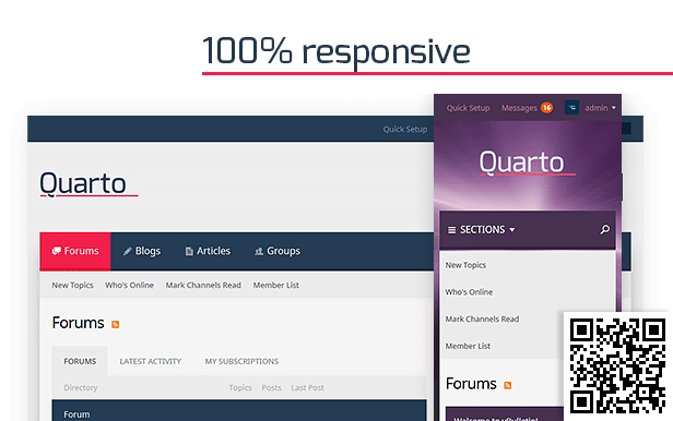 Quarto — vBulletin 5 Responsive Retina Ready Theme - 1