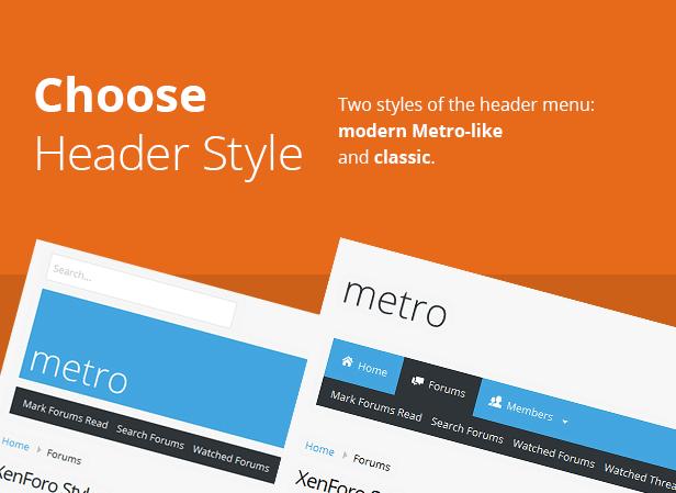 Metro — XenForo Responsive & Retina Ready Theme - 4